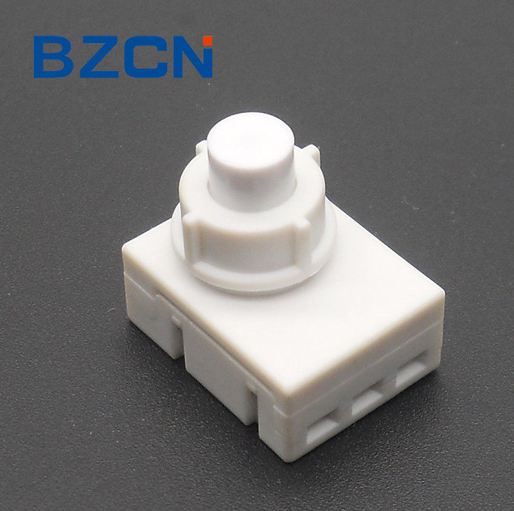Telecommunications Low Profile Push Button Switch With 3 Hole Terminal