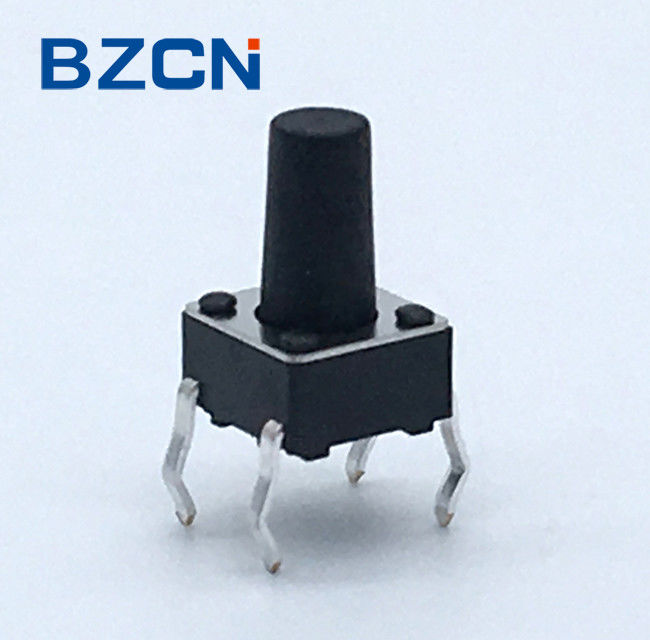 Consumer Electronics Normally Closed Tactile Switch Iron Cover 0.5mA Current Rate